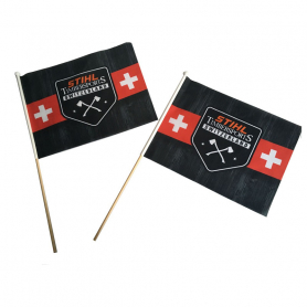 Fan flag with sleeve
