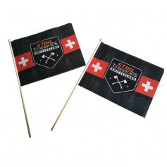 Fan flag with sleeve