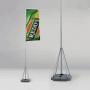 Bandera con mástil telescópico
