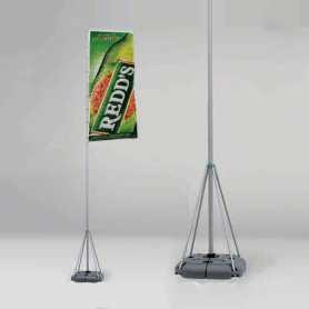Flagga med teleskopstång