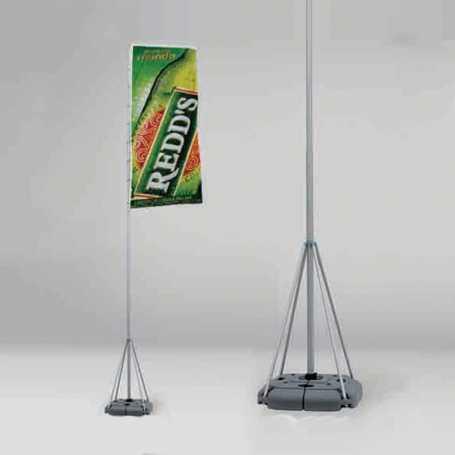 Bandiera con asta telescopica