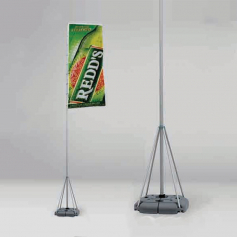 Flag with telescopic pole