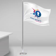 Bandeiras postes de mesa