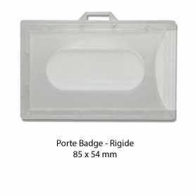 Porte badge rigide transparent