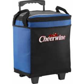 Wood 32-can cooler bag