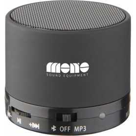 Alto-falante Bluetooth® cilíndrico marrom com revestimento de borracha