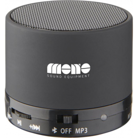 Haut-parleur Bluetooth® cylindrique Brown revêtement gomme
