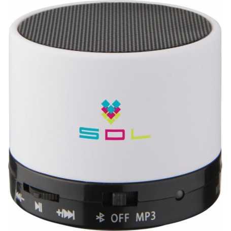 Altoparlante Bluetooth® cilindrico marrone con rivestimento in gomma