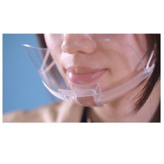 Máscara / viseira transparente
