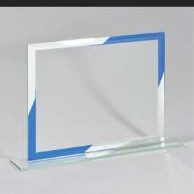 """Plaquette """"Pittsburgh"""" met blauwe lijst en spiegel"""