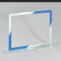 """Pittsburgh"" plaque with blue frame and mirror"