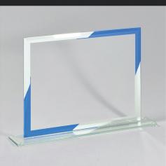 """Placa """"Pittsburgh"""" con marco y espejo azules"""