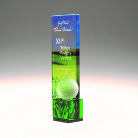 """""""Fontana"""" trophy with colored cube and ball"""