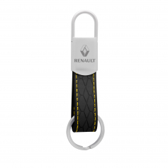 FAUX LEATHER KEYCHAIN - SPRING CLOSURE KC081-3
