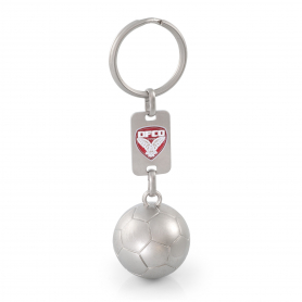 3D FOOT OR RUGBY KEYCHAIN WITH PERSONALIZED PLATE