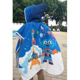 Aanpasbare kinder poncho handdoek