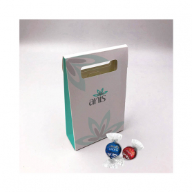 Delikatessenbox - Personalisiert mit 15 Lindor Lindt