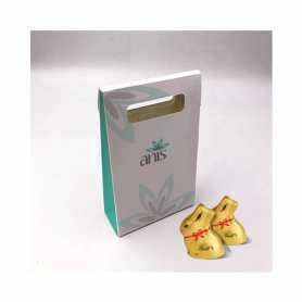 Caja de Delicadeza - Personalizada con 15 Conejitos Lindt Mini
