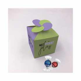 Caja Floral - Personalizada con 5 Lindor