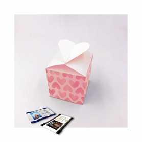 Caja Corazón - Personalizada con 10 Mini Excellence Milk o Dark 70%