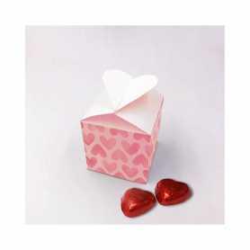 Boite Coeur - Personnalisée avec 20 Mini Coeur Lait