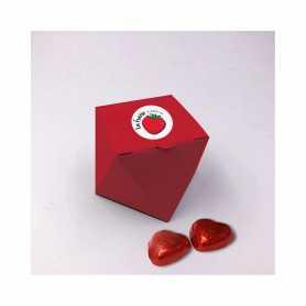Boite Marquise - Personnalisée avec 70 Mini Coeur Lait