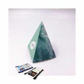 Caja piramidal: personalizada con 10 Mini Excellence Milk o Dark 70%