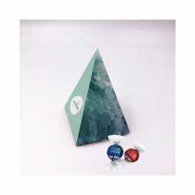 Boite Pyramide - Personnalisée avec 5 Lindor Lait ou Noir 45%
