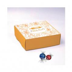 Boite Pyramide - Personnalisée avec 10 Mini Excellence Lait ou Noir 70%