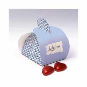 Caixa Elegance - Personalizada com 3 Mini Corações de Leite ou 4 Mini Corações de Leite