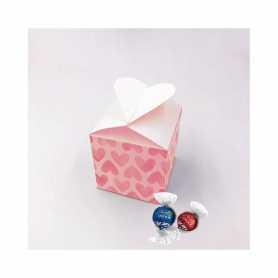 Hartvormige doos - gepersonaliseerd met Lindor melk of puur 45%