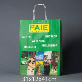Sac papier publicitaire-31x12x41