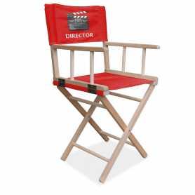 Chaise de directeur publicitaire marquage sur tissus rouge