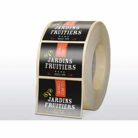 Etiquettes quadri adhésif enlevable verni brillant