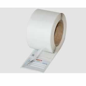 Etiquettes à rabat polyester alu mat