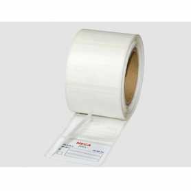 Etiquettes à rabat polyéthylène blanc