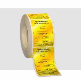 Etiquettes 1 couleur Polyester Or Pelliculage brillant