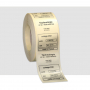 1-color labels Transparent polyester Glossy lamination