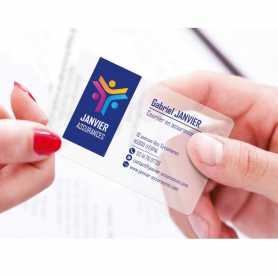 Cartes de visite PVC translucide