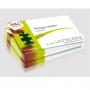 Cartes de visite PVC blanc