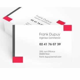 Cartes de visite Polyester blanc