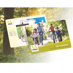 Maxi cartes publicitaires Polyester brillantes