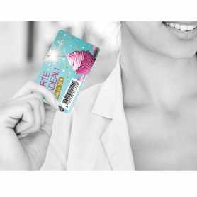Cartes codes-barres Polyester laminé brillant