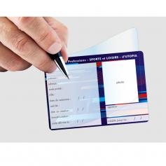 Maxi carte à rabat format 75x85 mm
