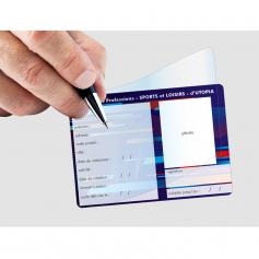 Maxi carte à rabat format 75x105 mm
