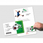 2 IN 1 integrated card: LETTER + CARD