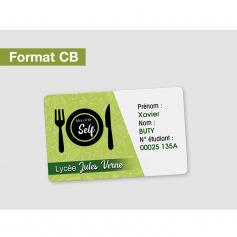 Cartes d'identification Format 54 x 86mm