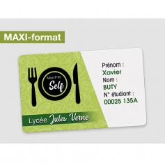 Cartes d'identification Format 75 x 105mm
