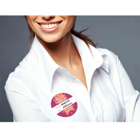 Badges Satin synthétique adhésif