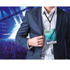 Maxi-badges Polyester blanc